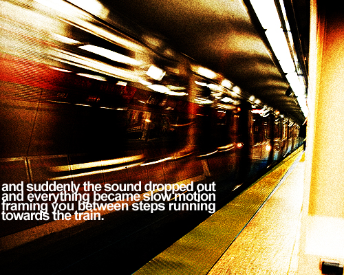 suddenly slow mo train
